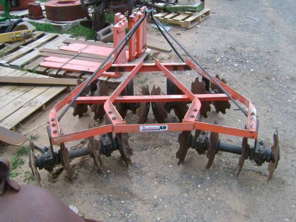 Photo 3-Point Disc and Garden Tractor Roto-Tiller (Lubbock, Texas)