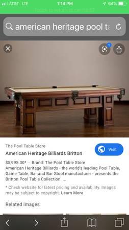 Photo American heritage pool table - $1