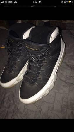 Photo Black N White Jordan 9s - $70 (Lubbock)