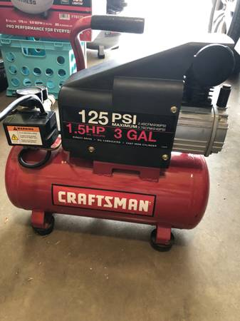Photo Craftsman 3 gallon air compressor - $80 (SW Lubbock)