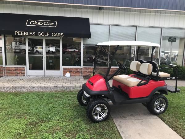 Photo 2016 Club Car Lifted Electric Golf Car- Red - $6,995 (Glen Allen)