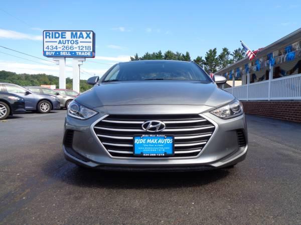 Photo 2017 Hyundai Elantra 1 Owner Low Miles Under Manufacture Warranty Mint - $12595 (Lynchburg VA)