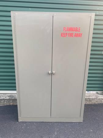 Photo Flammable Liquid Storage Cabinet 45 gallon capacity - $300 (Mechanicsville)