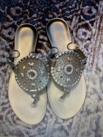 Photo Jack Rogers Gold Jelly Sandals - $18 (Forest)