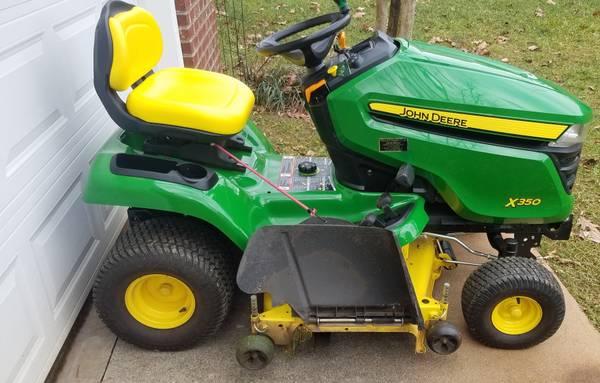 Photo John Deere X350 48 cut lawn mower - $2,750 (Forest, Virginia)
