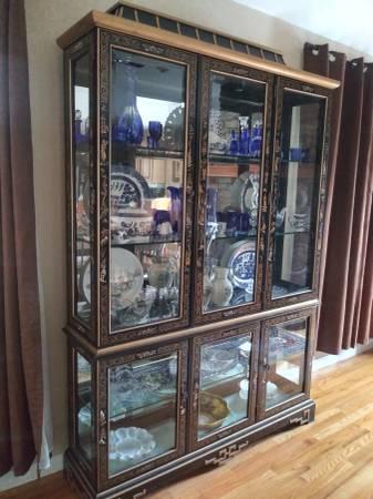 Photo Oriental China Hutch  Tea Cart - $3,500 (Lynch Station)