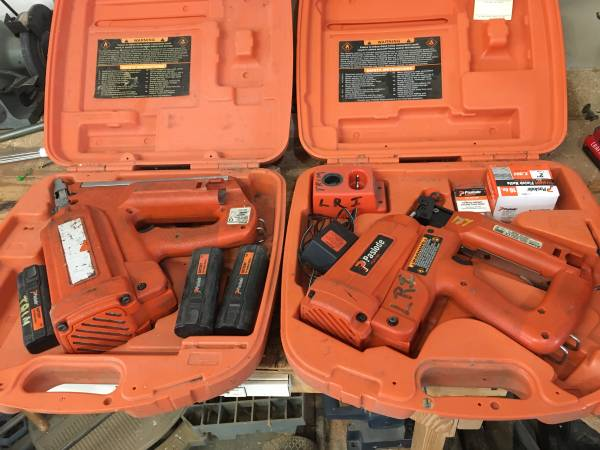 Photo Paslode cordless nailers - $270 (Bedford)