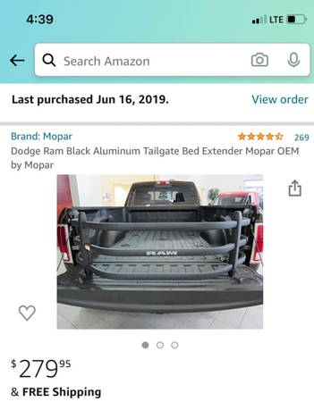 Photo Ram Truck Bed Extender - $175 (Keysville)