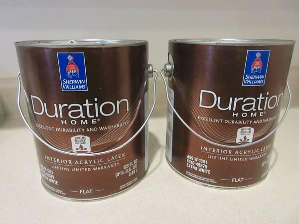 Photo Sherwin Williams Duration interior Latex paint, 2 gal Sleepy Blue - $55 (Moneta)