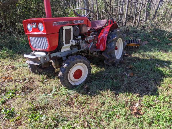 Photo Yanmar 4x4 diesel tractor ,blade,tiller - $3,975 (Forest)