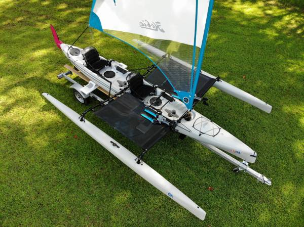 Photo 2016 Hobie Mirage Tandem Island Sailing Kayak for Sale - $7,000 (Bolingbroke, GA)
