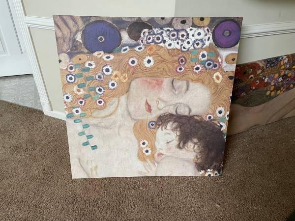 Photo 2 Gustav Klimt paintings set IKEA - $50 (Marietta)