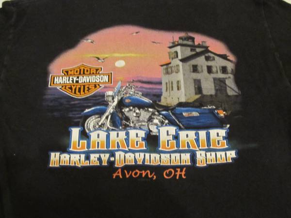 Photo Harley-Davidson Tee Large Lake Erie Bike Shop Avon, OH - $25 (MACON)