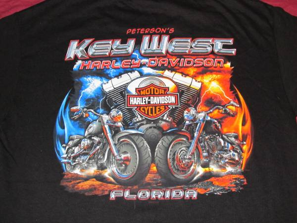 Photo Harley-Davidson Tee Small New Peterson39s Key West Fla. - $20 (MACON)