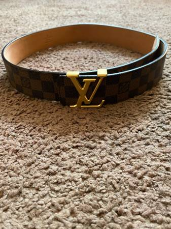 Photo Men Louis Vuitton Belt Damier Ebene Brown Checker Print Size 85  34 - $190 (Warner Robins)