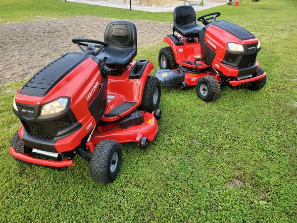Photo Two Brand New Craftsman 50 Inch Cut Riding Lawn Mowers - $1600 (Warner Robins)