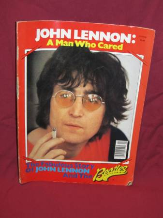 Photo VTG. John Lennon quotA Man Who Caredquot Magazine 1980 82 Pgs. - $10 (MACON)