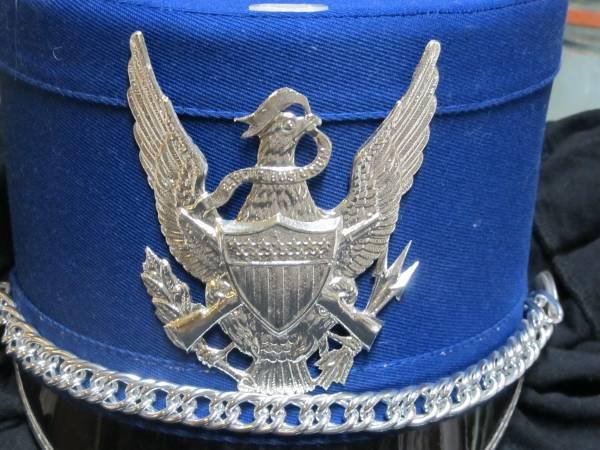 Photo Vintage High School Band Leader Hat Large Blue Large Silver Eagle - $15 (MACON)