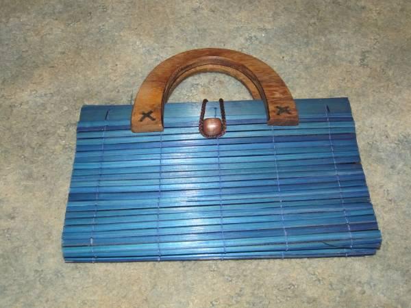 Photo Vintage Wood Purse Blue 196039s - $10 (MACON)