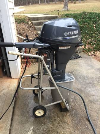 Photo Yamaha Four Stroke outboard F20 LPHA  elec. start and power trim - $2750 (N. Macon, Ga  Bolingbroke, Ga.)