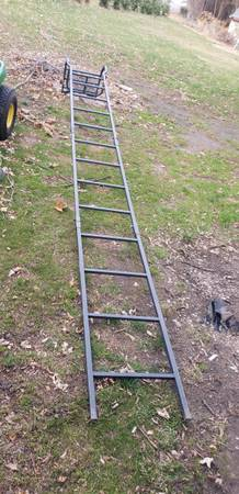 Photo 12 ft ladder stand - $75 (McFarland)