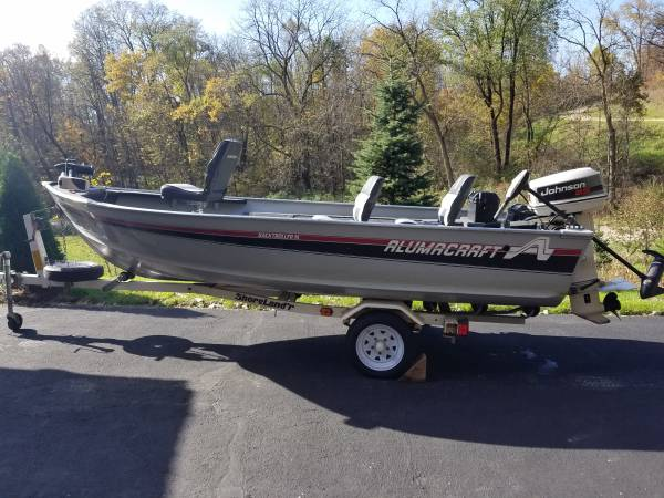 Photo 14 ft aluminicraft fishing boat - $3900 (Blanchardville)