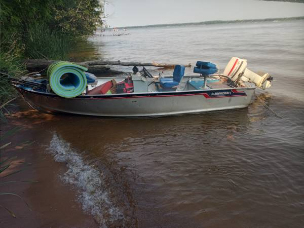 Photo 1639 Alumnacraft fishing boat 35hp - $1,950 (Mauston)