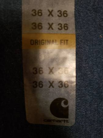 Photo (1) Pair of Carhartt Original Mens Jeans 36W X 36L - $30 (Monroe, WI)