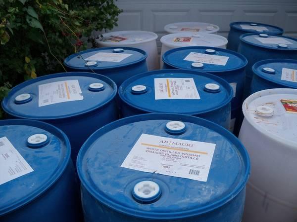 Photo 55 Gallon Plastic Drums - $15 (Sun Prairie)