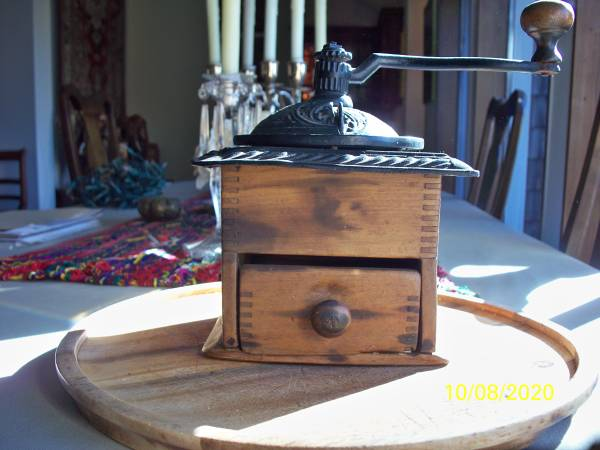 Photo Antique original condition cast iron coffee mill, grinder180039s - $165 (Spring Green)