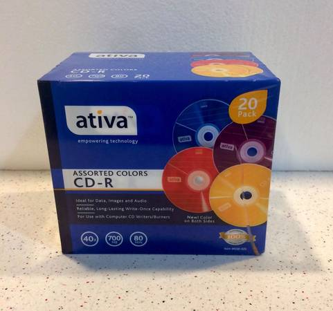 Photo Ativa Assorted Colors CD  R 40 X 700 MB 80 Minute Jewel Case 20 Pack - $20 (Madison Northside)