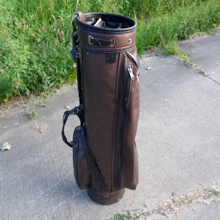 Photo Brown Leather Golf Bag - $30 (KENSINGTON AVE)