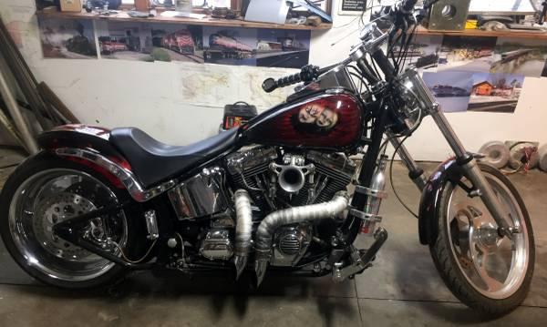 Photo Custom built Harley Davidson Bobber - $12,500 (Prairie du Sac)