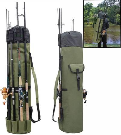 Photo Fishing Rod Bag Holder Fishing Rod Carrier Fishing Pole Travel Case - $25 (Madison NorthSide)
