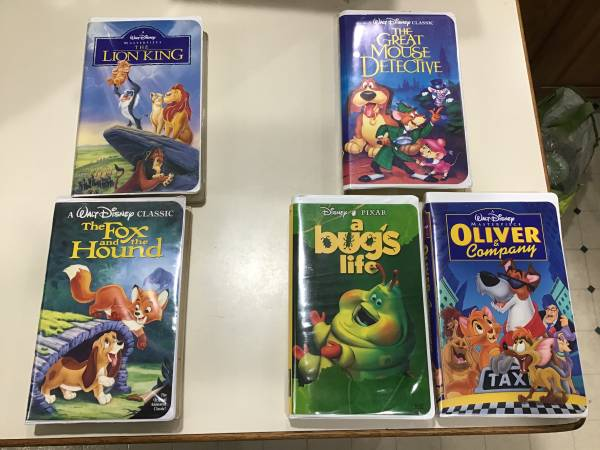Photo Five Disney vhs tapes - $10 (Madison Far West)