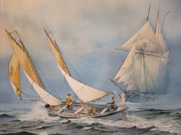 Photo Framed Charles Peterson original watercolor - quotFogquot - $5,000 (Middleton)