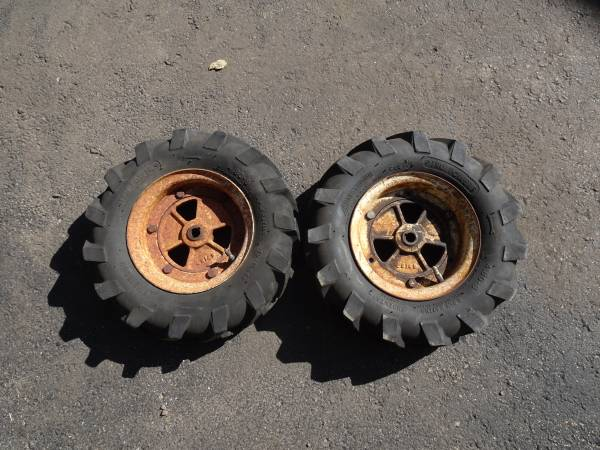 Photo Gravely Wheels, Hubs and Tires for Walk-Behind Tractor - $45 (Middleton)