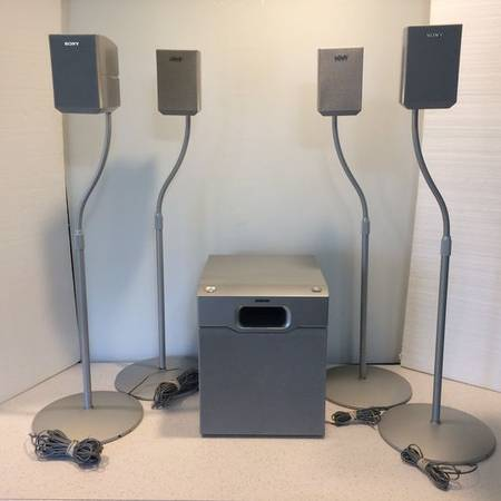 Photo Sony Satellite Speakers (4) SS-MSP1,(1) SubWoofer SA-WMSP1 and (4) Sp - $125 (Madison Northside)