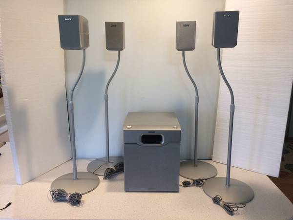 Photo Sony Satellite Speakers (4) SS-MSP1,(1) SubWoofer SA-WMSP1 and (4) Sp - $100 (Madison Northside)