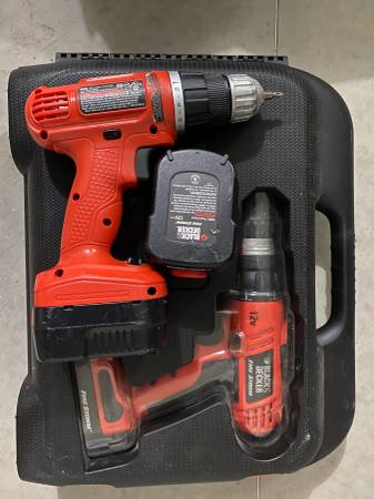 Photo Two Black and Decker Firestorm cordless drills - $20 (Stoughton, WI)
