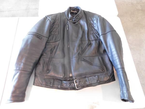 Photo Vintage Harley Davidson Leather Jacket Size 46R - $185 (Lodi)