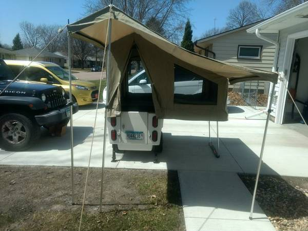 2012 Mini-Mate Motorcycle pop-up camper with awning for ...
