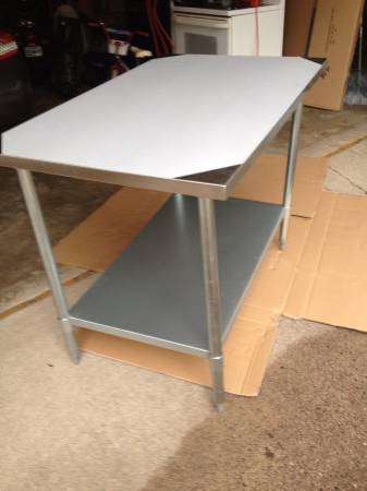 Photo Brand new 30x48 stainless steel work table with under shelf - $160 (Savage, Stillwater, South St. Paul)