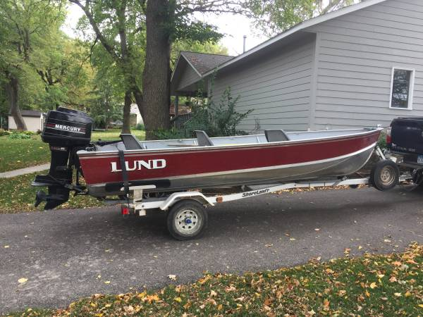 Photo Lund 16 foot Aluminum Fishing Boat - $3,100 (Owatonna)