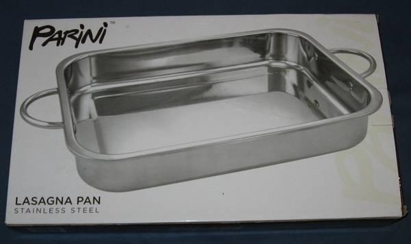 Photo NEW - Parini Lasagna Pan Roaster Stainless Steel - $20 (Mankato)