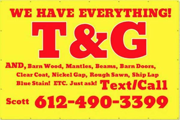 Photo TG Tongue and groove pine knotty pine (Isanti Mn)