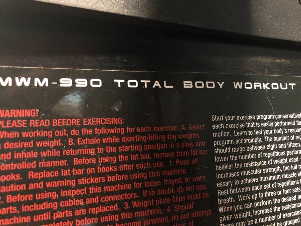 Photo Workout total gym - $100 (Fairmont)