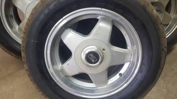 Photo (4) 153939 SW Wheels An 225  60 Tires 4 Lug 4 x 4.25 (108) - $250 (Bucyrus)