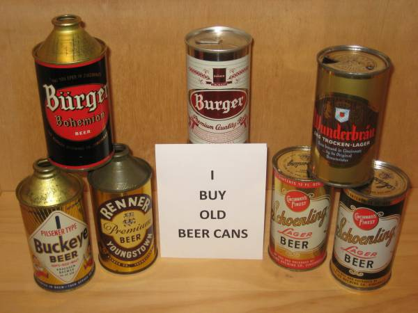 Photo BEER CANS WANTED collection or single vintage can cone top flat cans - $100 (Powell)