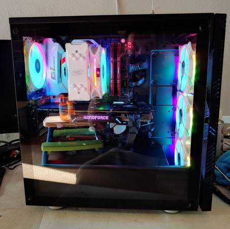 Photo Custom Gaming Setup Intel i7 Gaming PC with 27quot 144Hz Monitor - $1,300 (Mogadore)